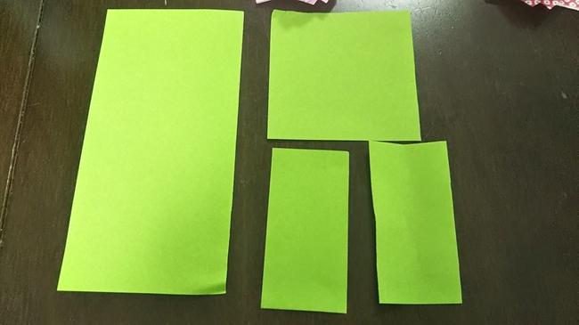 折り紙でコスモスの葉っぱ・茎をつくる<作り方>