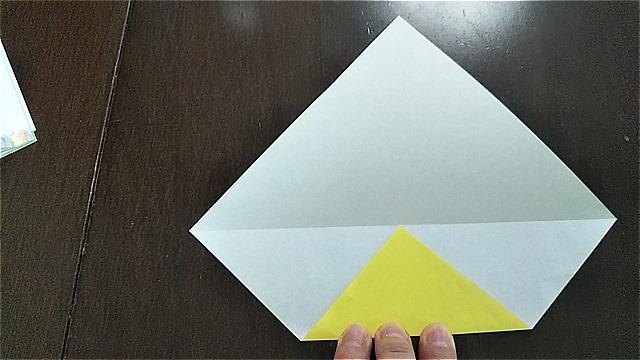 4枚の折り紙で作るリースの折り方~手順~ (5)