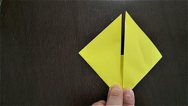 4枚の折り紙で作るリースの折り方~手順~ (9)
