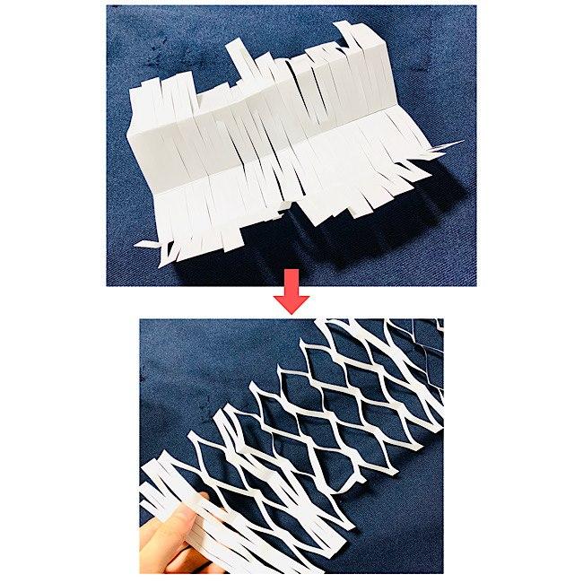 折り紙でつくる投網・網飾り(天の川)の作り方