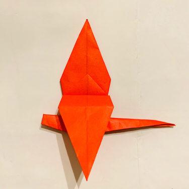 【折り紙で作る赤とんぼ】秋にピッタリ!立体的で簡単な折り方