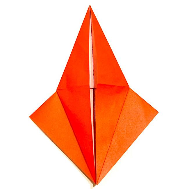 【赤とんぼ】折り紙での折り方 簡単
