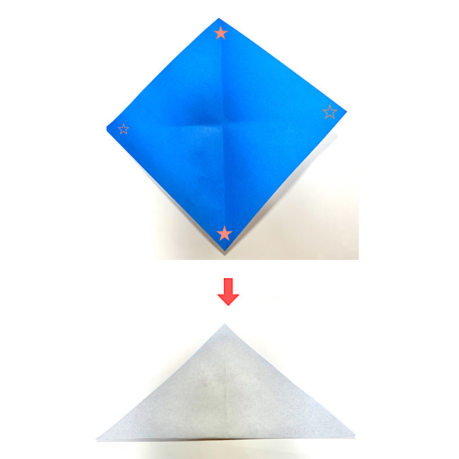 いるかの折り紙 折り方・作り方 (1)