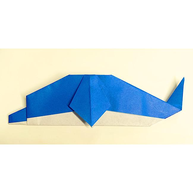 いるかの折り紙 折り方・作り方 (10)