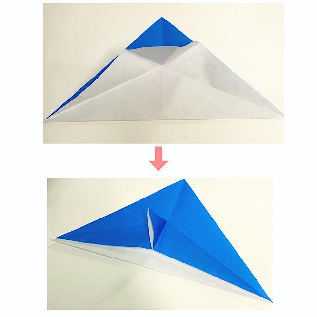 いるかの折り紙 折り方・作り方 (3)
