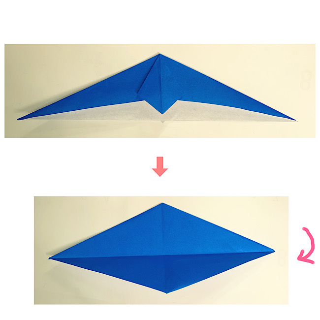 いるかの折り紙 折り方・作り方 (5)