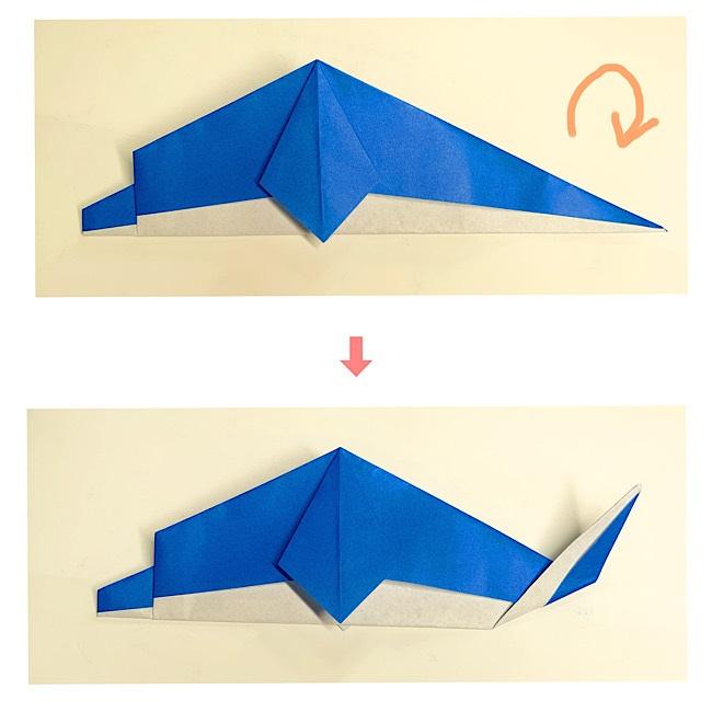 いるかの折り紙 折り方・作り方 (8)