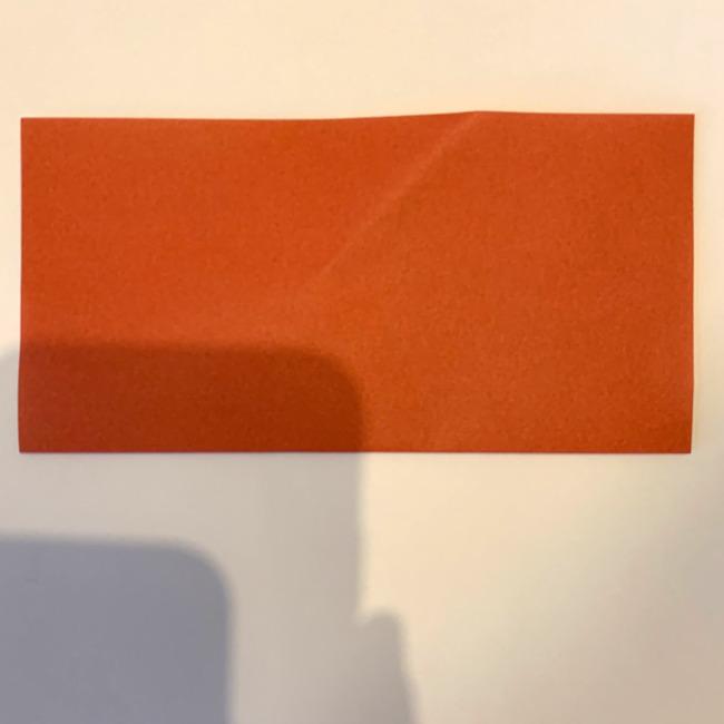 クワガタ 折り紙で簡単に平面で折る作り方 (1)