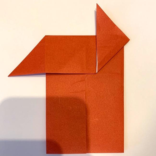 クワガタ 折り紙で簡単に平面で折る作り方 (10)
