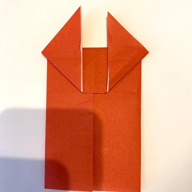 クワガタ 折り紙で簡単に平面で折る作り方 (11)