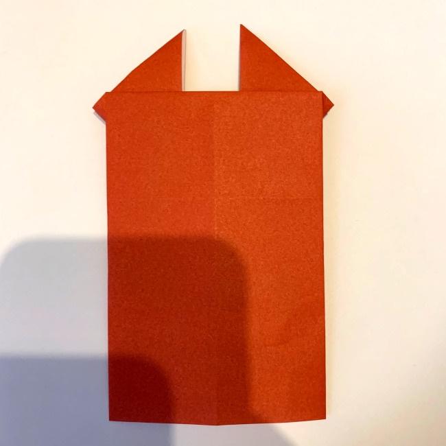 クワガタ 折り紙で簡単に平面で折る作り方 (12)