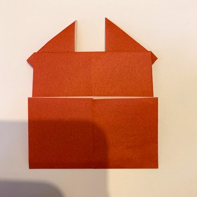 クワガタ 折り紙で簡単に平面で折る作り方 (13)