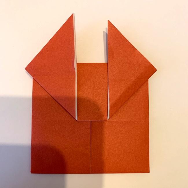 クワガタ 折り紙で簡単に平面で折る作り方 (14)
