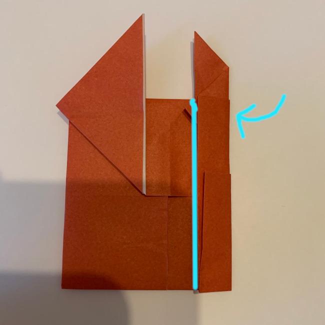 クワガタ 折り紙で簡単に平面で折る作り方 (15)