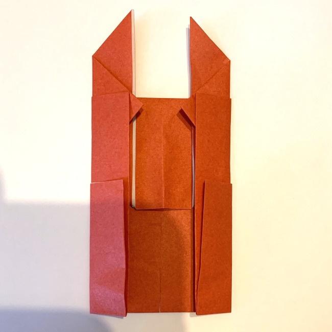クワガタ 折り紙で簡単に平面で折る作り方 (16)