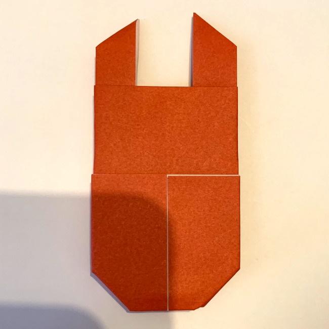 クワガタ 折り紙で簡単に平面で折る作り方 (18)
