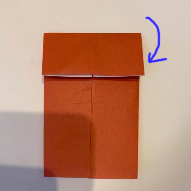 クワガタ 折り紙で簡単に平面で折る作り方 (7)