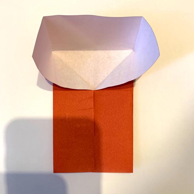 クワガタ 折り紙で簡単に平面で折る作り方 (8)