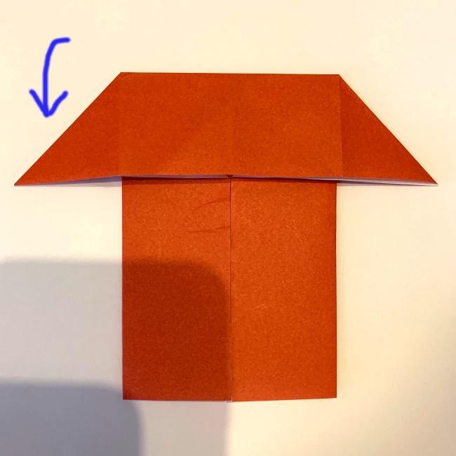クワガタ 折り紙で簡単に平面で折る作り方 (9)