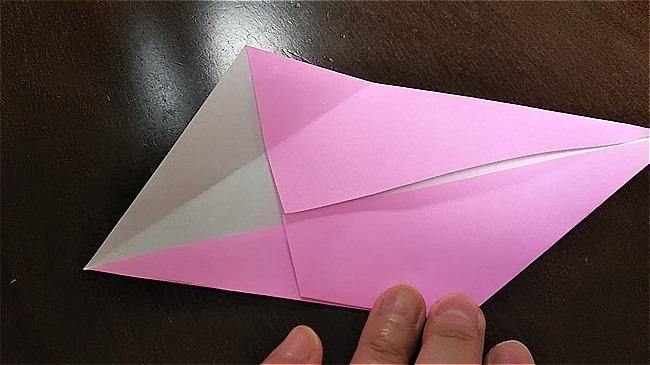 フラミンゴの折り紙 折り方・作り方 (12)