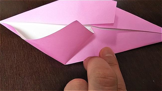 フラミンゴの折り紙 折り方・作り方 (13)