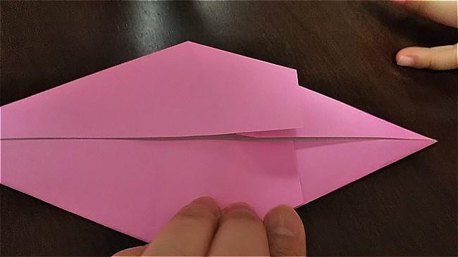 フラミンゴの折り紙 折り方・作り方 (14)