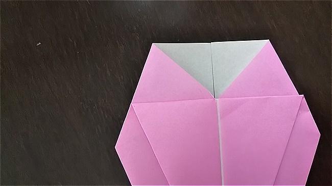 フラミンゴの折り紙 折り方・作り方 (18)