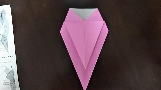 フラミンゴの折り紙 折り方・作り方 (19)