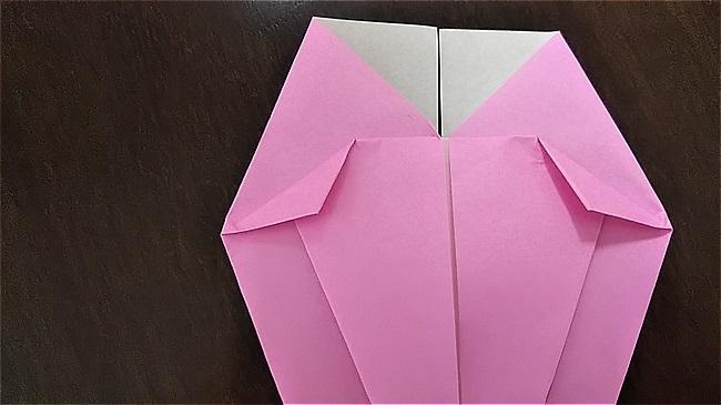 フラミンゴの折り紙 折り方・作り方 (20)