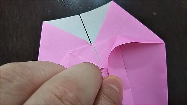 フラミンゴの折り紙 折り方・作り方 (23)
