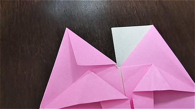 フラミンゴの折り紙 折り方・作り方 (27)