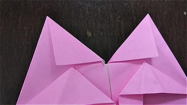 フラミンゴの折り紙 折り方・作り方 (28)