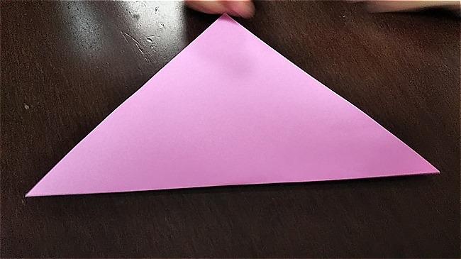フラミンゴの折り紙 折り方・作り方 (3)