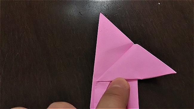 フラミンゴの折り紙 折り方・作り方 (36)