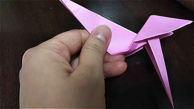 フラミンゴの折り紙 折り方・作り方 (39)