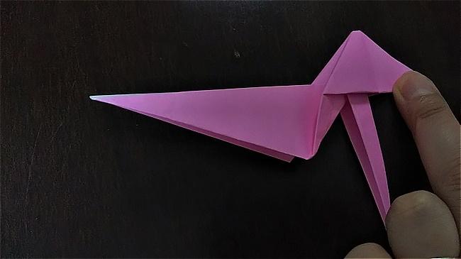 フラミンゴの折り紙 折り方・作り方 (40)