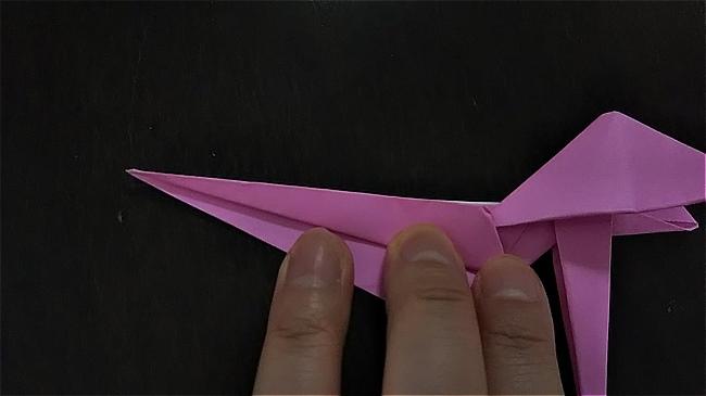 フラミンゴの折り紙 折り方・作り方 (41)