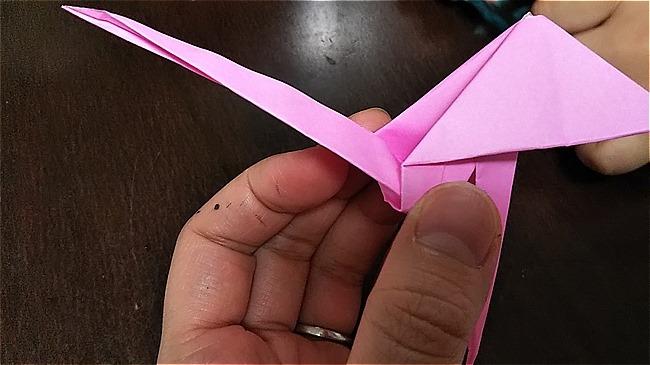 フラミンゴの折り紙 折り方・作り方 (44)