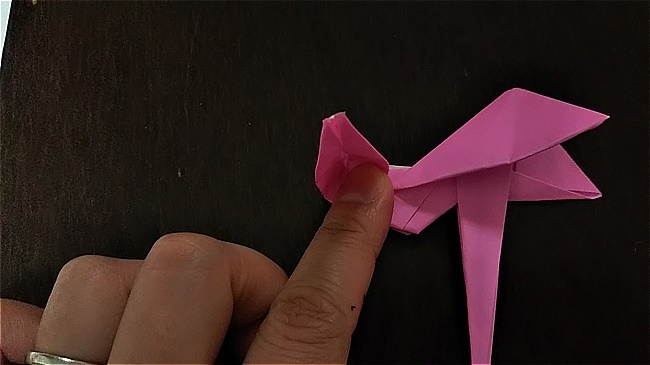 フラミンゴの折り紙 折り方・作り方 (46)