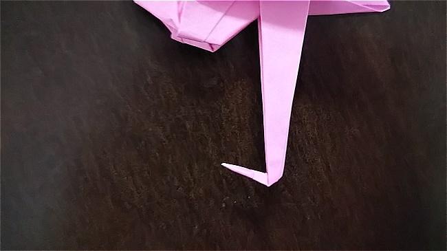 フラミンゴの折り紙 折り方・作り方 (52)