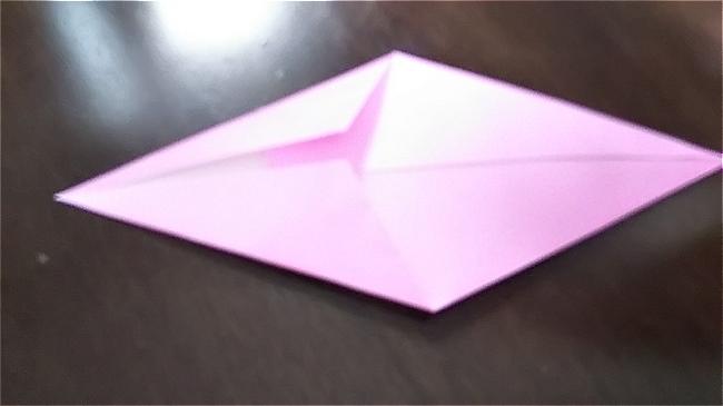 フラミンゴの折り紙 折り方・作り方 (9)