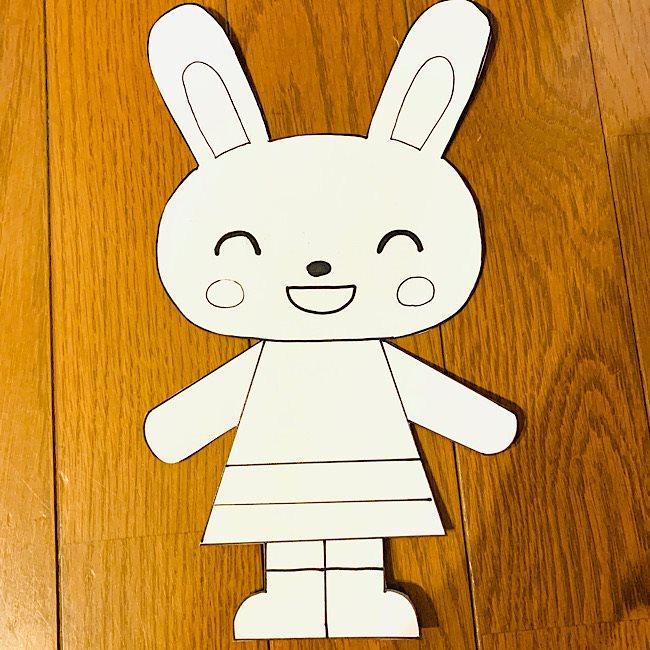 リボン結びの練習おもちゃ『うさぎさん』の作り方