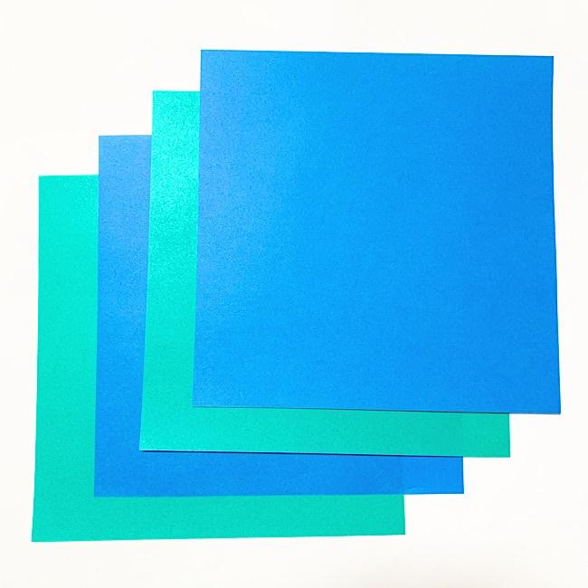 折り紙でリースをつくるには4枚の折り紙だけ!