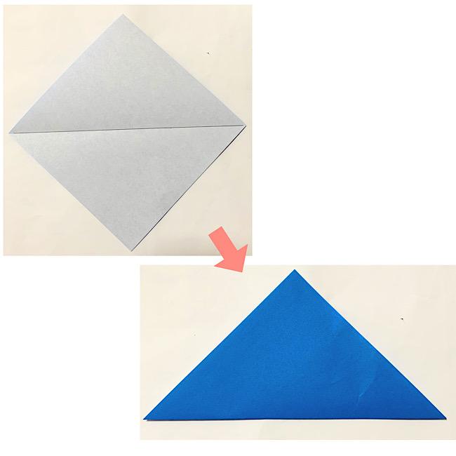 折り紙のリースの土台の作り方