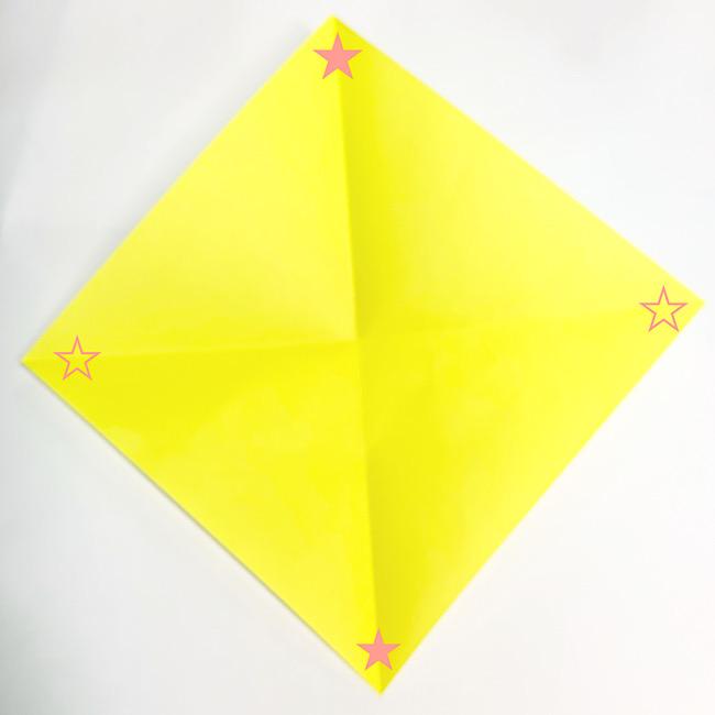 折り紙で魚をつくろう!エンゼルフィッシュ(熱帯魚)の折り方 (1)