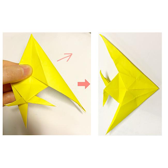折り紙で魚をつくろう!エンゼルフィッシュ(熱帯魚)の折り方 (13)