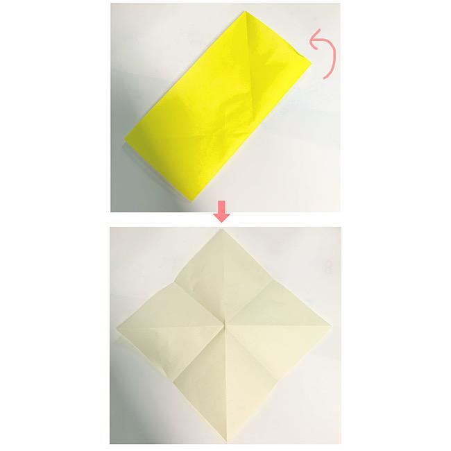 折り紙で魚をつくろう!エンゼルフィッシュ(熱帯魚)の折り方 (2)