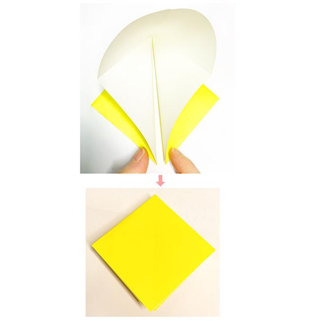 折り紙で魚をつくろう!エンゼルフィッシュ(熱帯魚)の折り方 (3)