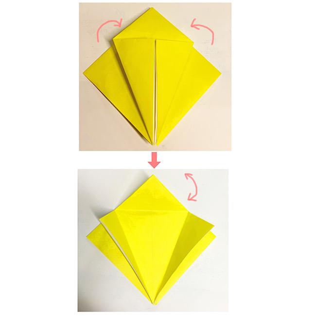 折り紙で魚をつくろう!エンゼルフィッシュ(熱帯魚)の折り方 (4)