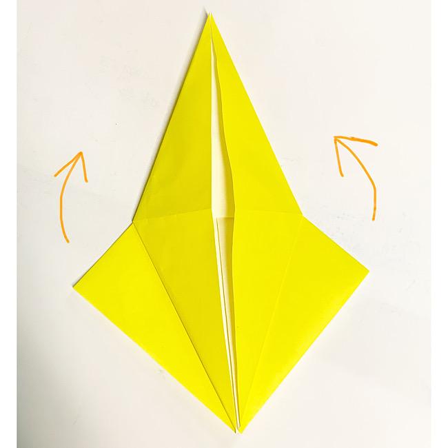 折り紙で魚をつくろう!エンゼルフィッシュ(熱帯魚)の折り方 (5)